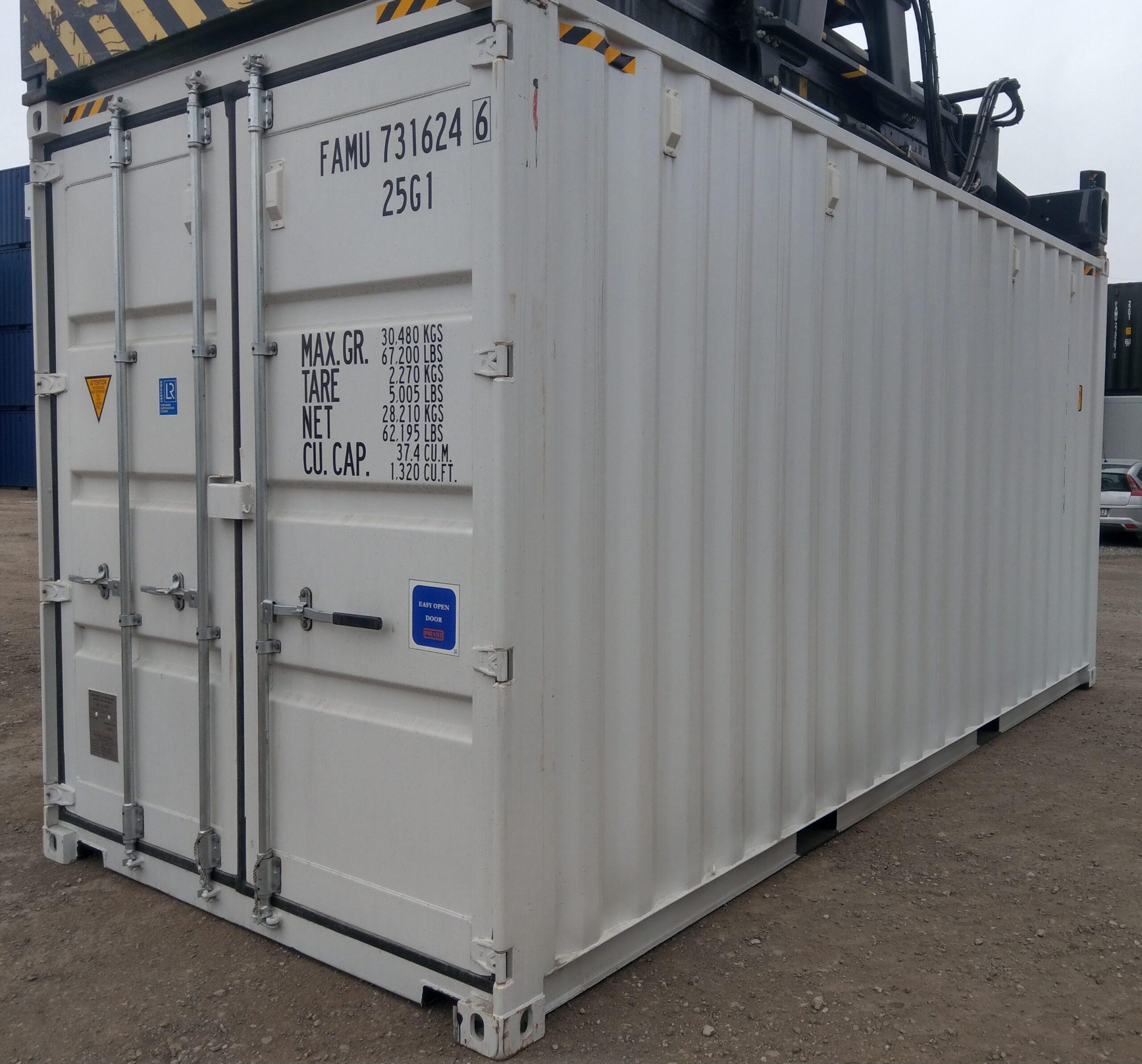 Uus 6m / 20HC konteiner valge