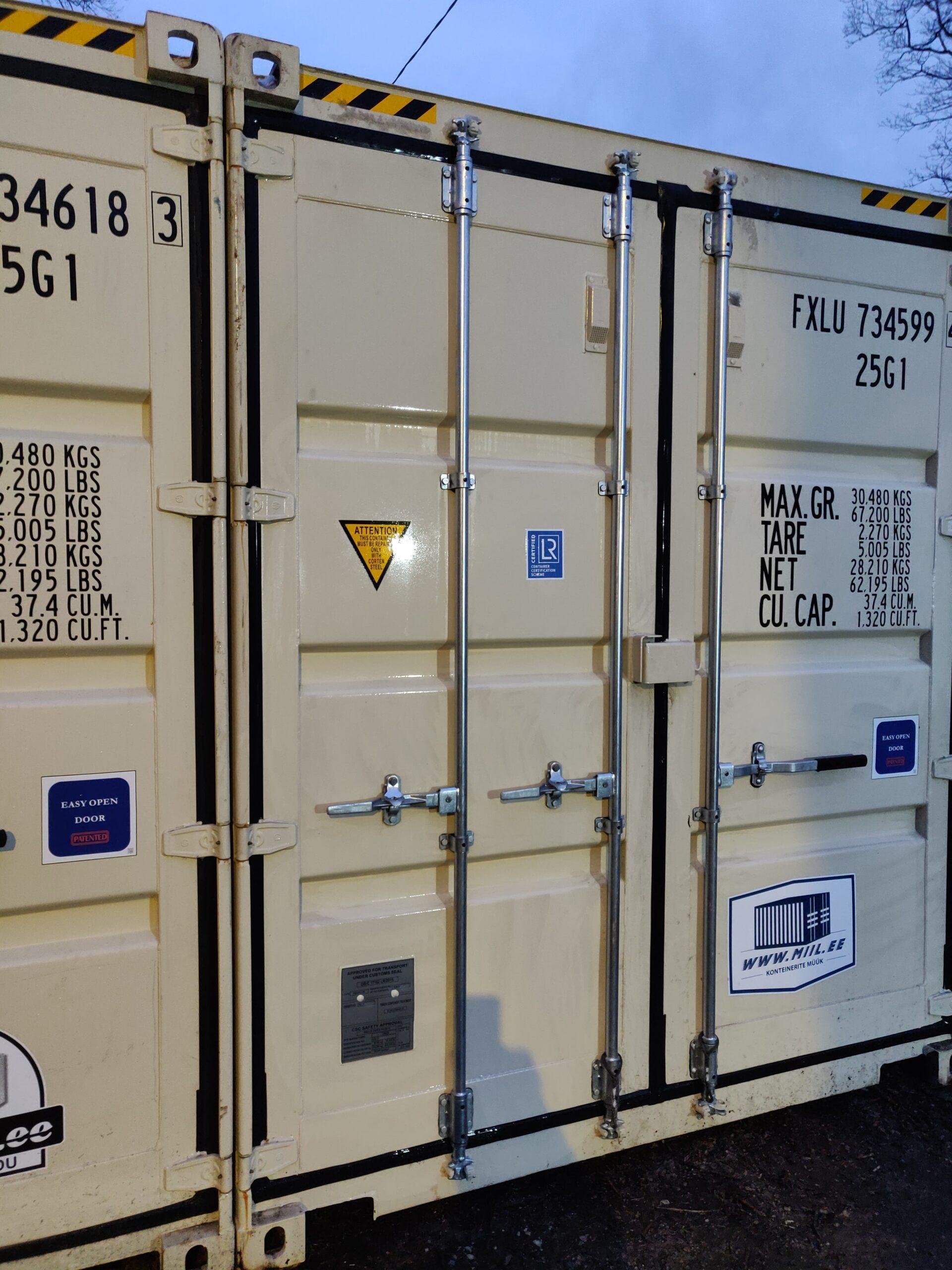 Uus konteinerladu NR 10 – FXLU7345994 kõrge variant